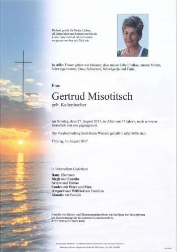Gertrud Misotitsch geb. Kaltenbacher