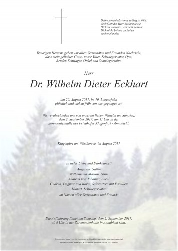 Dr. Wilhelm Dieter Eckhart