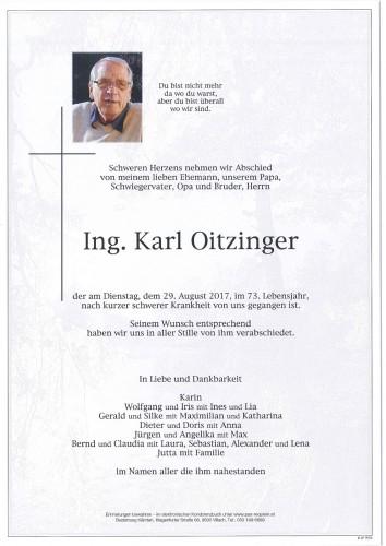 Ing. Karl Oitzinger