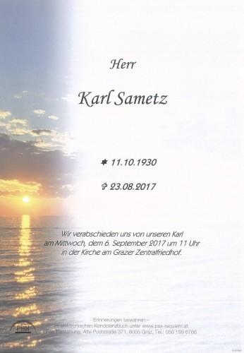 Karl Sametz