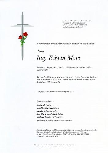 Ing. Edwin Mori