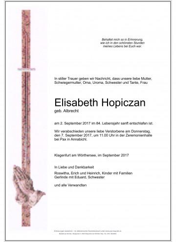 Elisabeth Hopiczan