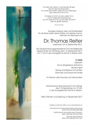Dr. Thomas Reiter
