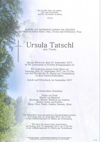 Ursula Tatschl