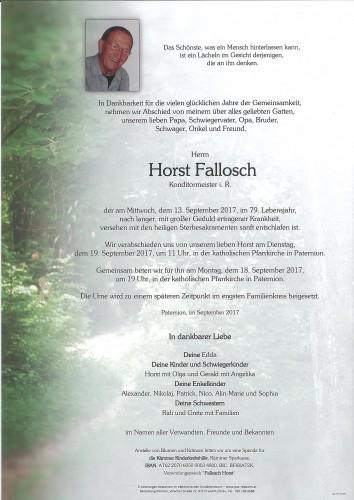 Horst Fallosch