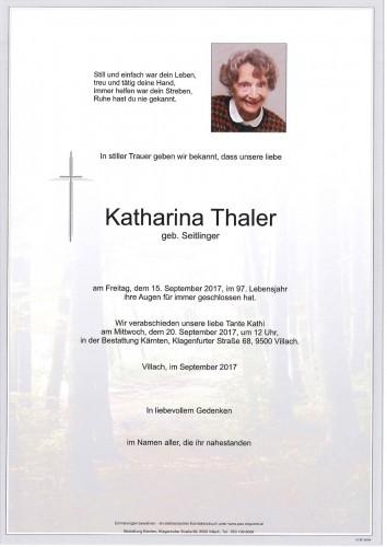 Katharina Thaler geb. Seitlinger