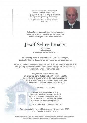 Josef Schreibmaier, vlg. Oberwirt