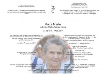Maria Mertel, geb. / roj. Pfeifer