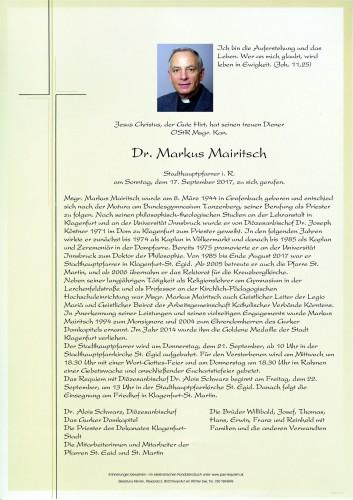 Msgr. Dr. Markus Mairitsch