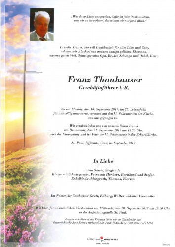 Thonhauser Franz
