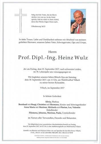 Prof. Dipl.-Ing. Heinz Wulz
