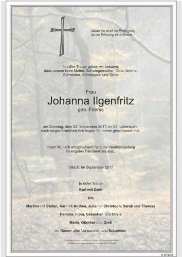 Johanna Ilgenfritz, geb. Frierss