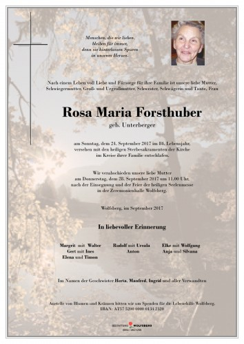 Rosa Maria Forsthuber