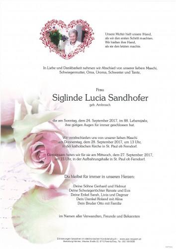 Siglinde Lucia Sandhofer