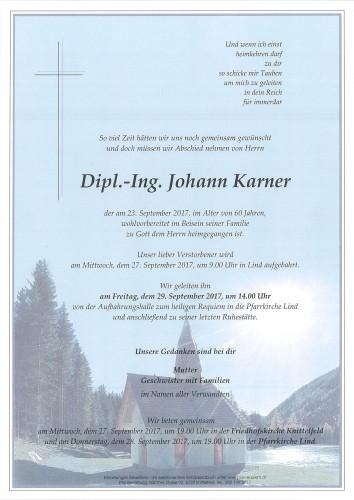 Dipl.-Ing. Johann Karner