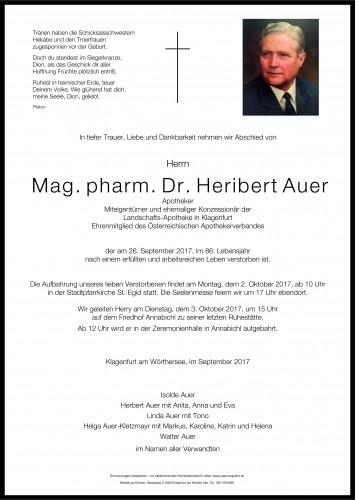 Mag. Dr. Heribert Auer