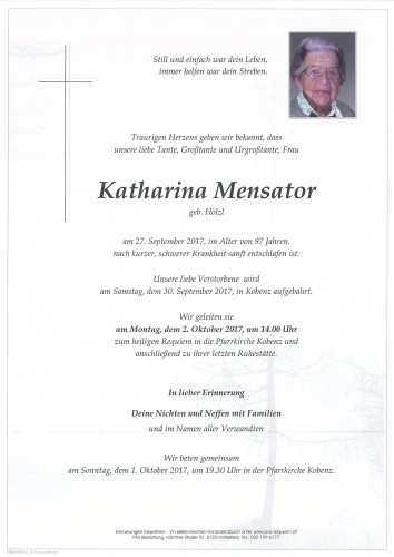 Katharina Mensator