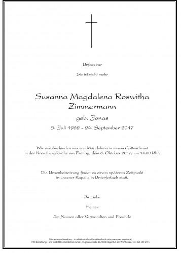 Susanna Magdalena Roswitha Zimmermann