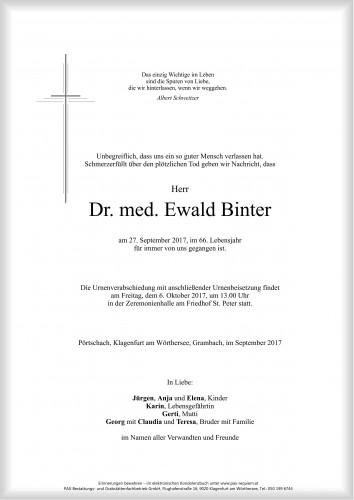 Dr. med. Ewald Binter