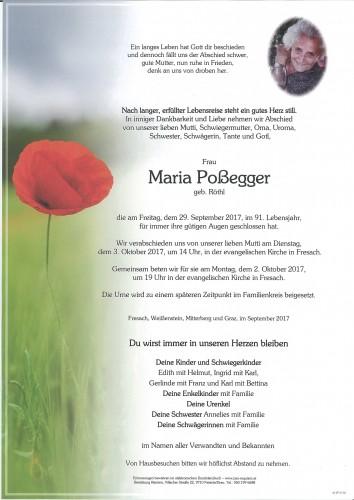 Maria Poßegger, geb. Röthl