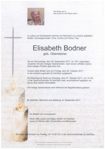 Elisabeth Bodner  geb. Obersteiner