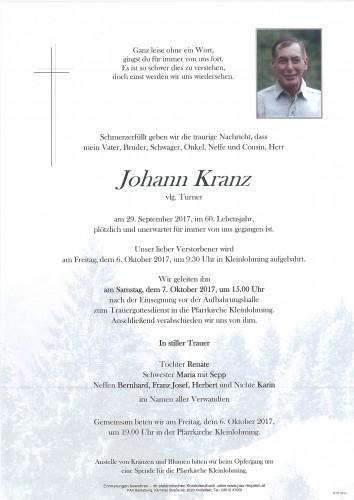Johann Kranz, vlg. Turner
