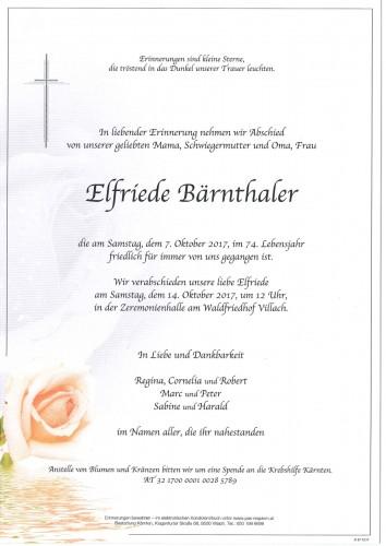 Elfriede Bärnthaler