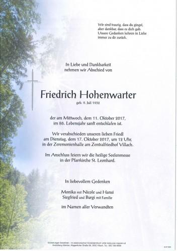 Friedrich Hohenwarter