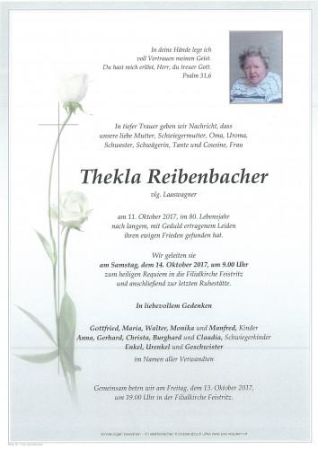 Thekla Reibenbacher, vlg. Laaswagner