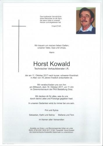 Horst Kowald