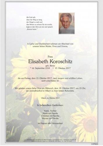Elisabeth Koroschitz