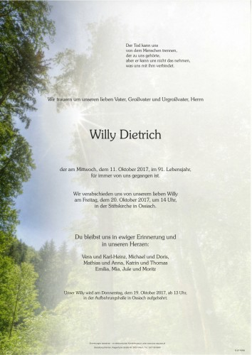 Willy Dietrich