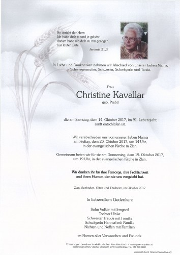 Christine Kavallar