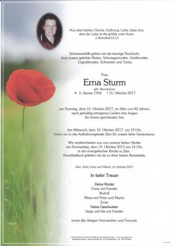 Erna Sturm, geb. Ramsbacher