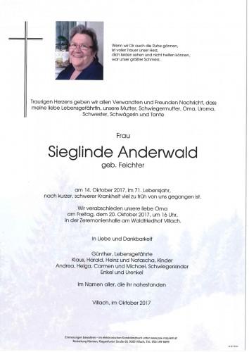 Sieglinde Anderwald geb.Feichter