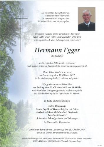Hermann Egger, vlg. Wabitzer