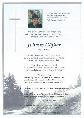 Johann Gößler, vlg. Jocklbauer