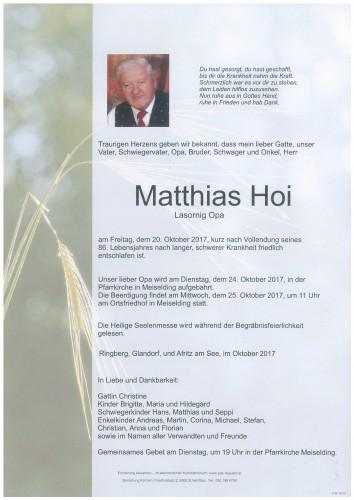Matthias Hoi