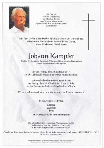 Direktor Johann Kampfer