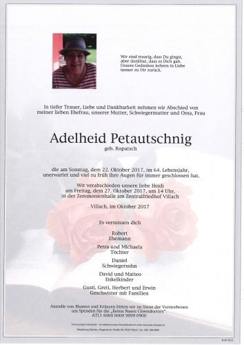 Adelheid Petautschnig geb. Ropatsch