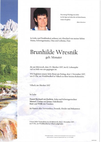 Brunhilde Wresnik