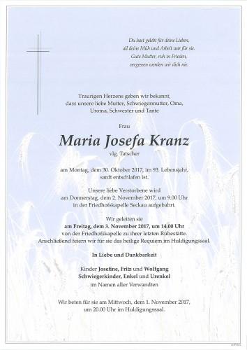 Maria Josefa Kranz, vlg. Tatscher