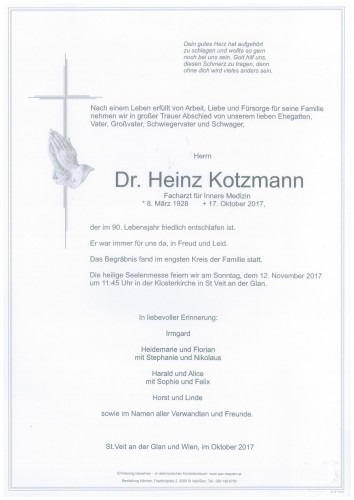 Dr.med. Heinz Kotzmann