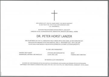 Dr. Peter Horst Lanzer