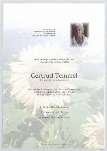 Gertrud Temmel