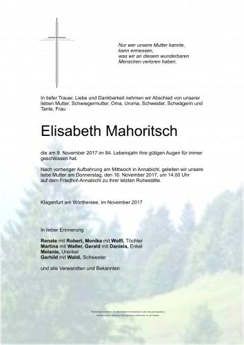 Elisabeth Mahoritsch