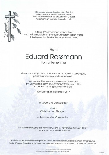 Eduard Rossmann