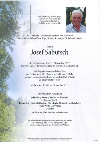Josef Sabutsch
