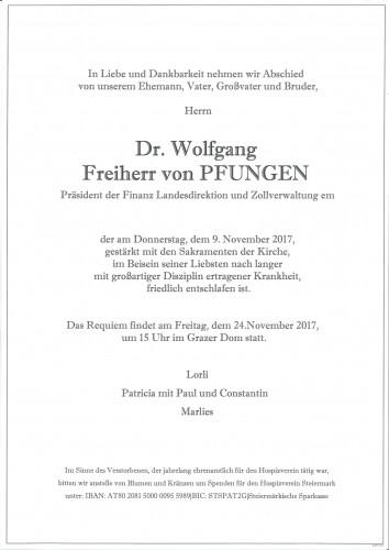 Dr. Wolfgang Freiherr von Pfungen