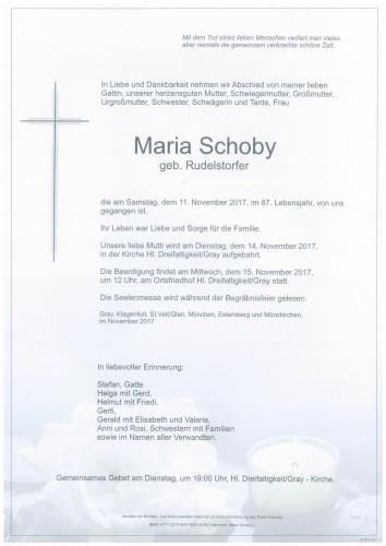 Maria Schoby  geb. Rudelstorfer